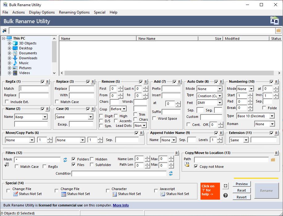 《Bulk Rename Utility 3.3.0.0 Commercial》